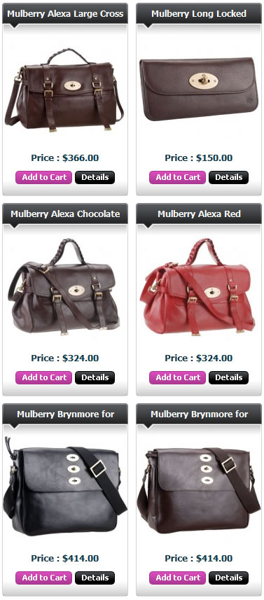 Mulberryi Replica Bags Men Women